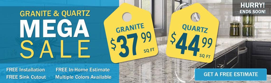 Granite & Quartz Countertop Sale